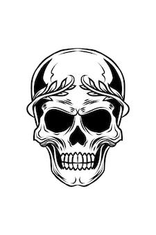 Illustration vectorielle de crâne empereur