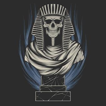 Illustration vectorielle de crâne de momie
