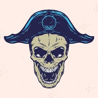 Illustration vectorielle de crâne pirate