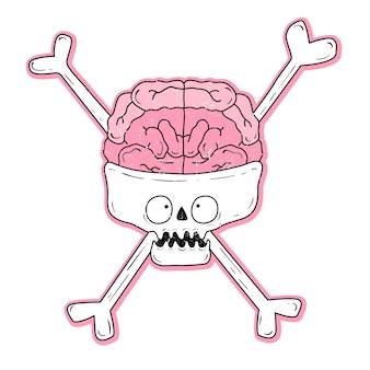Illustration vectorielle d'un crâne avec des yeux