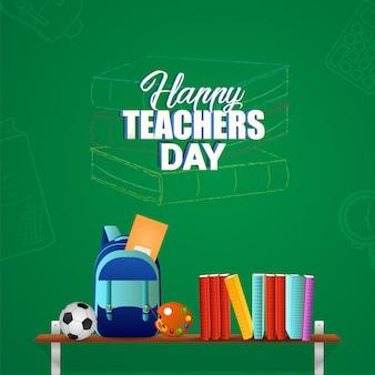 Illustration vectorielle créative du fond de la journée des enseignants heureux