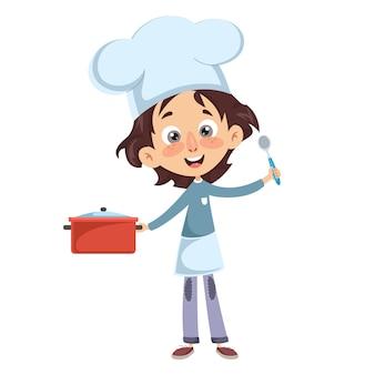 Illustration vectorielle de la cuisine de chef