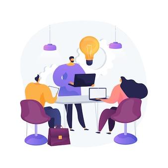 Illustration vectorielle de culture en milieu de travail concept abstrait. valeurs partagées, systèmes de croyance, attitude au travail, équipe de l'entreprise, culture d'entreprise, haute performance, métaphore abstraite de la santé des employés.