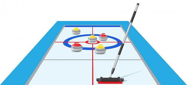 Illustration vectorielle de curling sport jeu