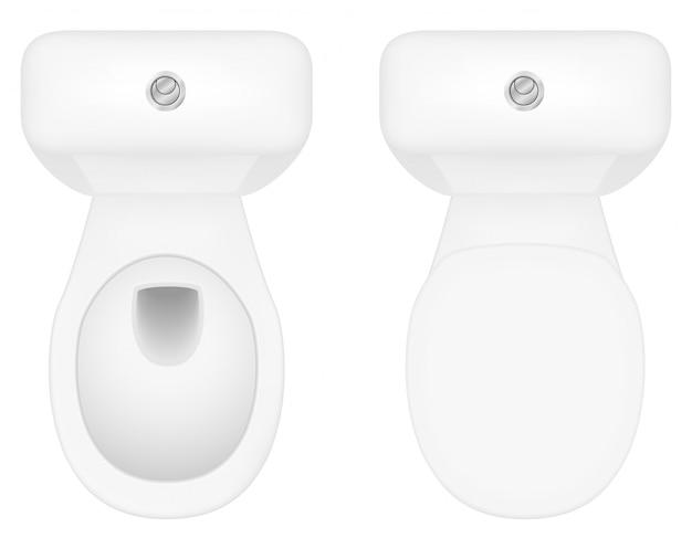 Illustration vectorielle de cuvette de toilette