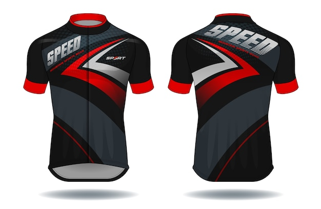 Illustration vectorielle de cycle jersey.sport wear protection equipment.