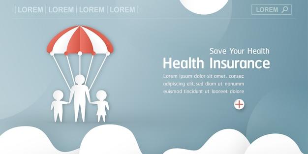 Illustration vectorielle dans le concept de l'assurance maladie.