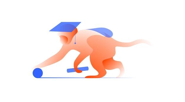 Illustration vectorielle dans un style graphique