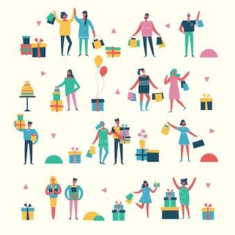Illustration vectorielle dans un style plat de différentes activités personnes dans le style plat
