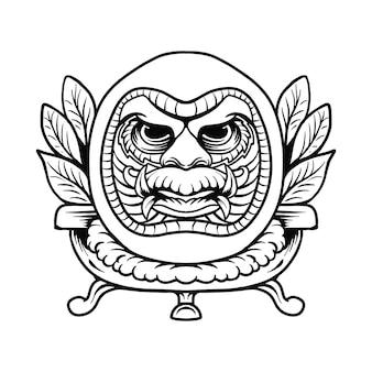Illustration vectorielle de daruma