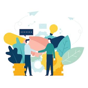 Illustration vectorielle de création d'entreprise