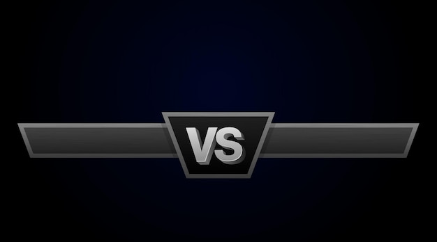 Illustration vectorielle de défi duel vs. versus board of rivaux, avec un espace pour le texte.