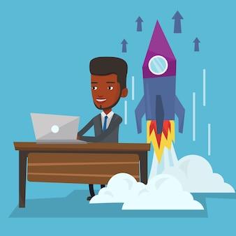 Illustration vectorielle de démarrage d'entreprise.