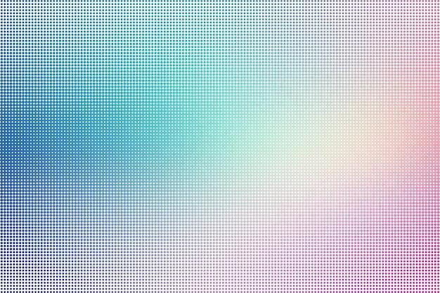 Illustration vectorielle de demi-teinte abstraite en pointillé coloré fond noir et blanc