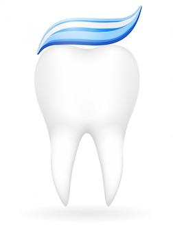 Illustration vectorielle de dent
