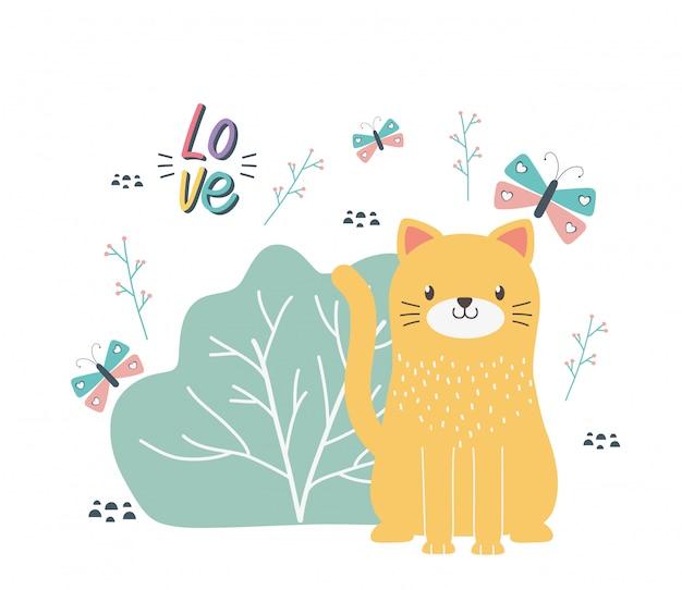 Illustration vectorielle de dessin animé chat