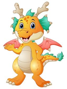 Illustration vectorielle de dessin animé mignon dragon
