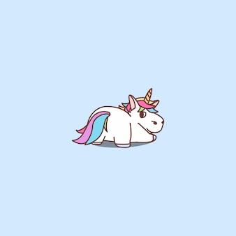 Illustration vectorielle de dessin animé mignon licorne