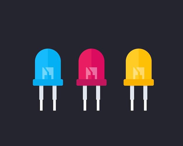 Illustration vectorielle de diodes électroluminescentes