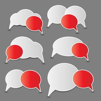 Illustration vectorielle de discours bulles
