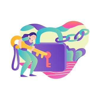 Illustration vectorielle de données de sécurité