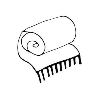 Illustration vectorielle de doodle à carreaux chauds dessinés à la main dans un style scandinave confortable