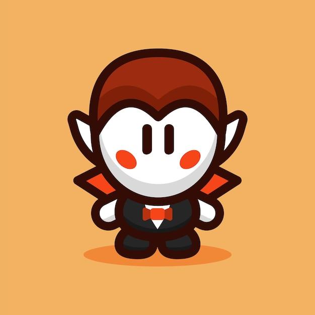 Illustration vectorielle de dracula personnage de dessin animé