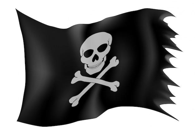 Illustration vectorielle de drapeau pirate