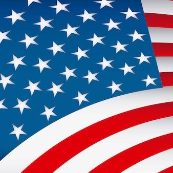 Illustration vectorielle de drapeau usa design