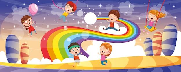 Illustration vectorielle du fond des enfants