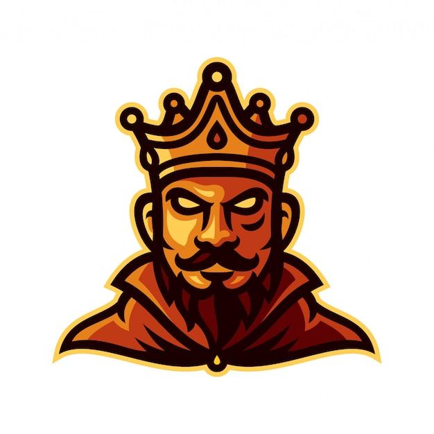 L'illustration vectorielle du logo roi mascotte modèle