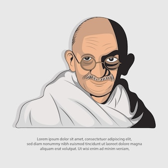 Illustration vectorielle du mahatma gandhi