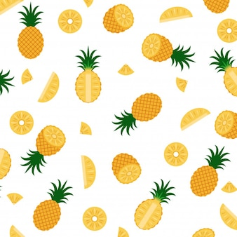Illustration vectorielle du motif ananas
