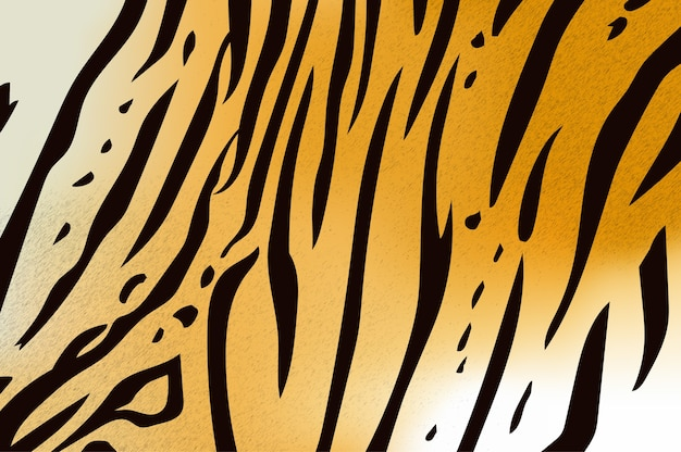 Illustration vectorielle du motif de rayures du tigre du bengale