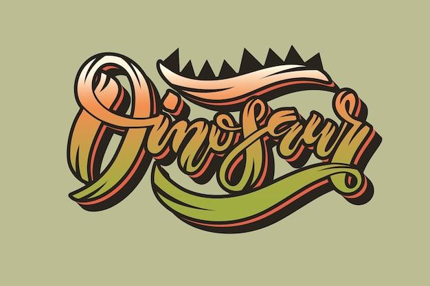 Illustration vectorielle du texte de dinosaure pour les vêtements de garçons dinosaur badge tag icône invitation bannière