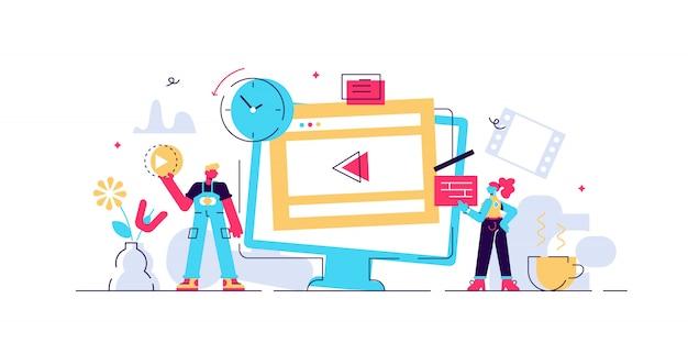 Illustration vectorielle de l'éditeur vidéo.