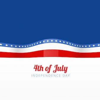 Illustration vectorielle élégante du drapeau américain avec espace pour votre texte