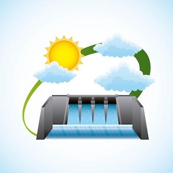 Illustration vectorielle d'énergie renouvelable