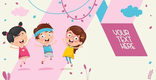Illustration vectorielle d'enfants jouant