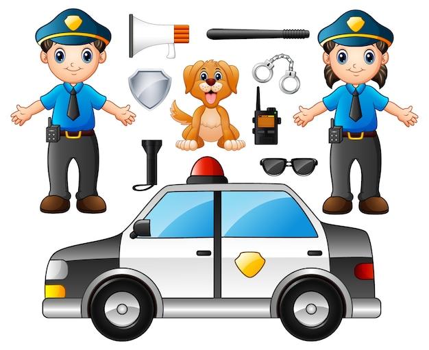 Illustration vectorielle de l'ensemble de la police