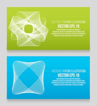 Illustration vectorielle eps 10. abstrait avec des éléments de conception géométrique. style de conception de vecteur carte de visite, papier à en-tête, brochure, bannière.