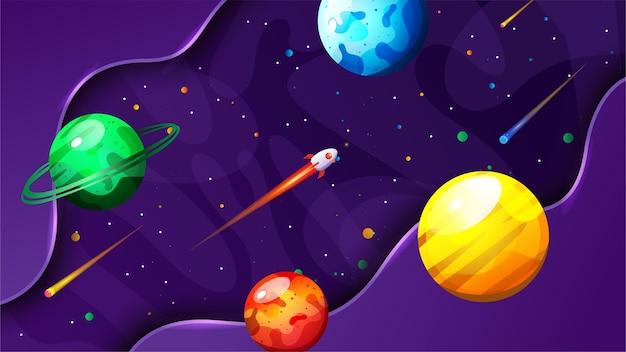 Illustration vectorielle de l'espace backgkround