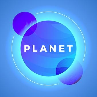 Illustration vectorielle de l'espace planète sphère abstraite. univers hyperespace futuriste