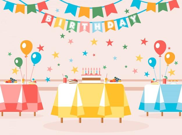 Illustration vectorielle est écrit dessin animé anniversaire.