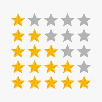 Illustration vectorielle étoiles de classement