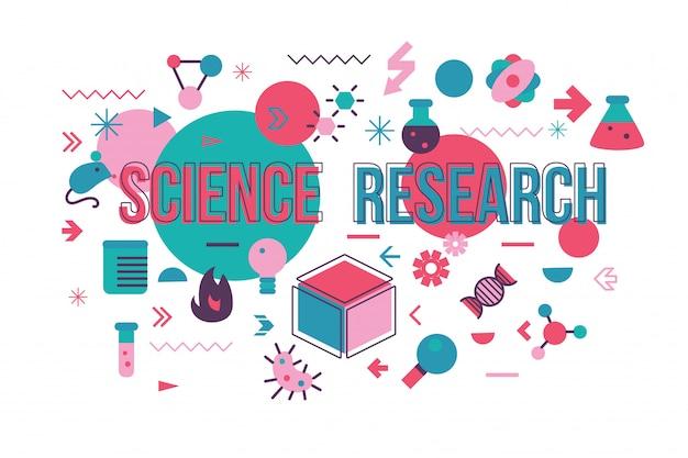 Illustration vectorielle d'étude de microbiologie