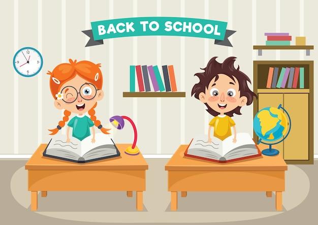 Illustration vectorielle des étudiants