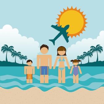 Illustration vectorielle de famille design graphique