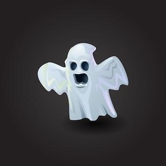 Illustration vectorielle fantôme effrayant