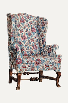 Illustration vectorielle de fauteuil à oreilles vintage, remixée à partir de l'œuvre d'art de rolland livingstone